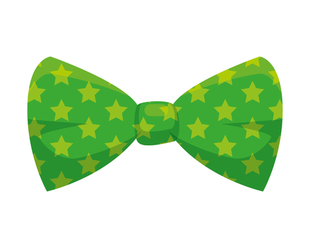 carnival bowtie with stars vector illustration design