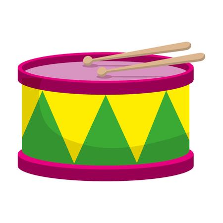 carnival drum instrument icon vector illustration design 写真素材 - 114835855
