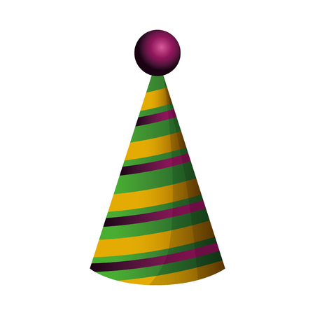 party hat isolated icon vector illustration design