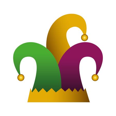 harlequin hat traditional icon vector illustration design