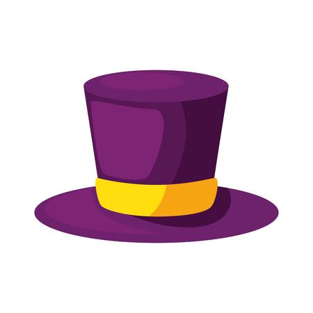 carnival top hat accessory vector illustration design Illustration