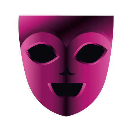 Máscara de teatro y carnaval, diseño de ilustraciones vectoriales