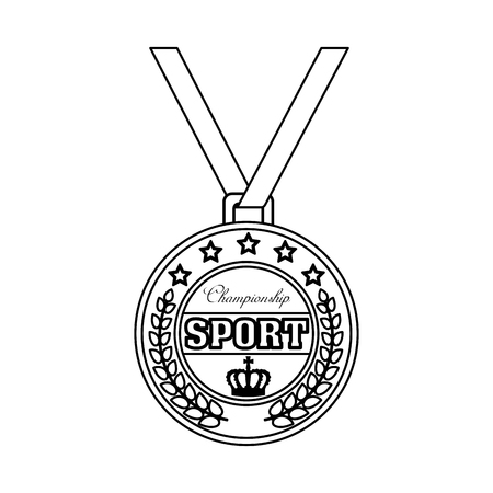 champion sport medal icon vector illustration design