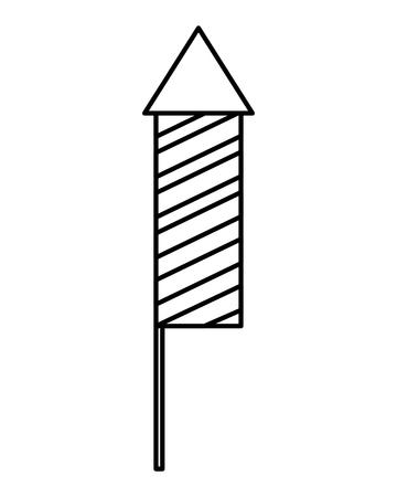 carnival firework rocket icon vector illustration design