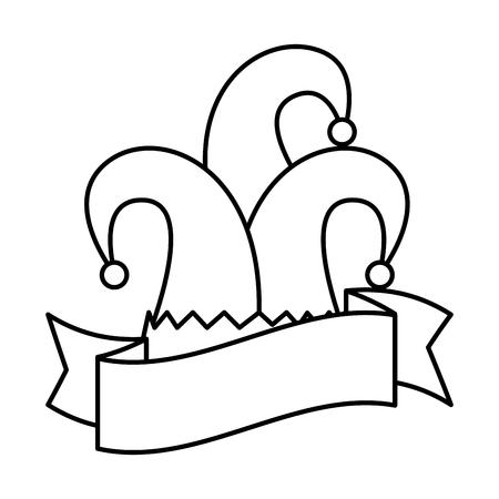 harlequin hat traditional icon vector illustration design Stock Vector - 114794302