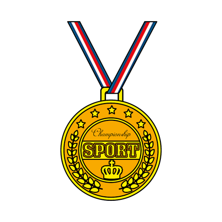 champion sport medal icon vector illustration design Stock fotó - 126381827