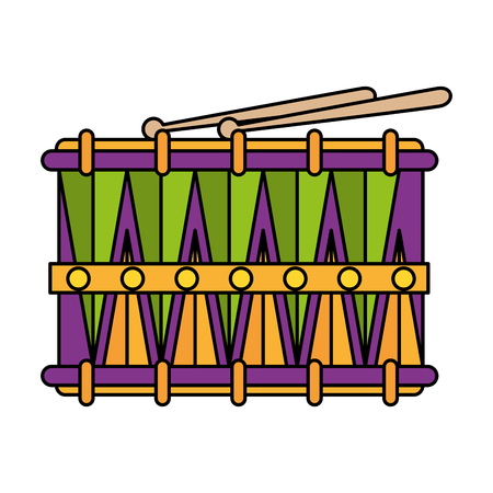 carnival drum instrument icon vector illustration design Illustration
