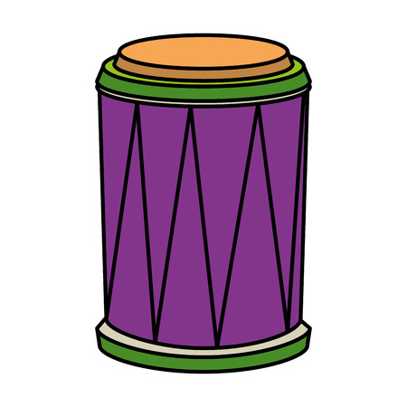 carnival bongo instrument icon vector illustration design