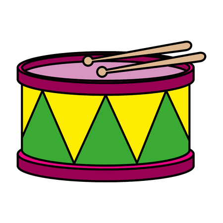 carnival drum instrument icon vector illustration design Illusztráció