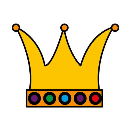 queen crown carnival accessory vector illustration design