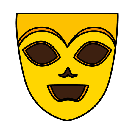 theater and carnival mask vector illustration design
