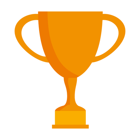 trophy cup award icon vector illustration design