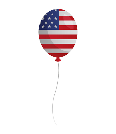 balloon with american flag happy presidents day vector illustration Reklamní fotografie - 126306788