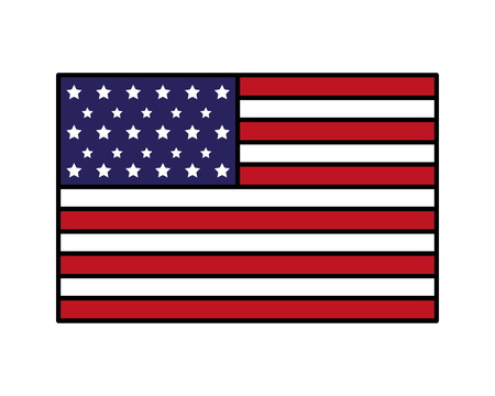 american flag happy presidents day vector illustration