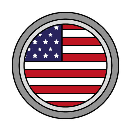 american flag button sign happy presidents day vector illustration
