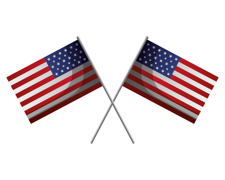drapeaux américains croisés heureux présidents day vector illustration Vecteurs