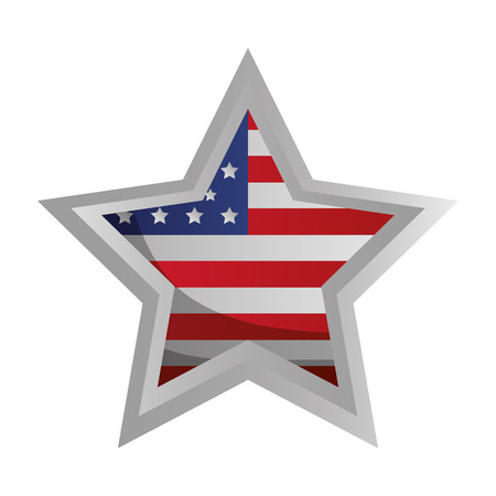 star with american flag happy presidents day vector illustration