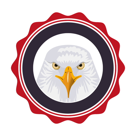 badge american eagle emblem happy presidents day vector illustration