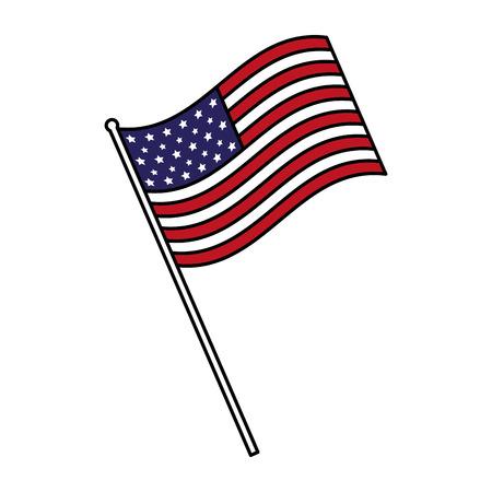 Bandera americana feliz día de los presidentes ilustración vectorial