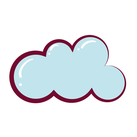 cloud weather on white background vector illustration