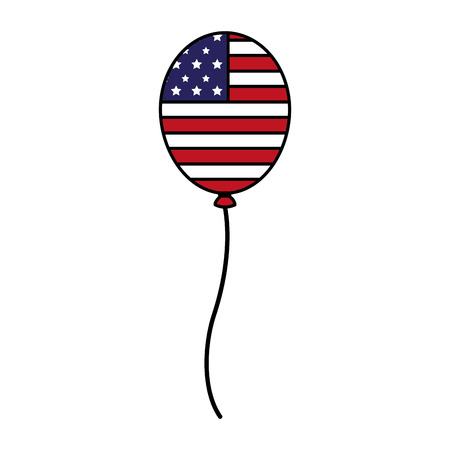 balloon with american flag happy presidents day vector illustration Reklamní fotografie - 126307000