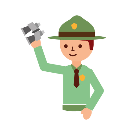 man tourist with binoculars travel vacations vector illustration 版權商用圖片 - 126307224