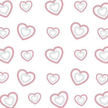 background hearts happy valentines day neon vector illustration