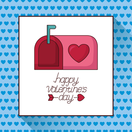 mail box love happy valentines day vector illustration Illustration