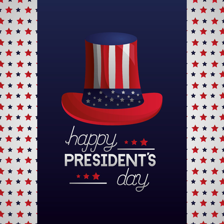 hat american flag happy presidents day vector illustration