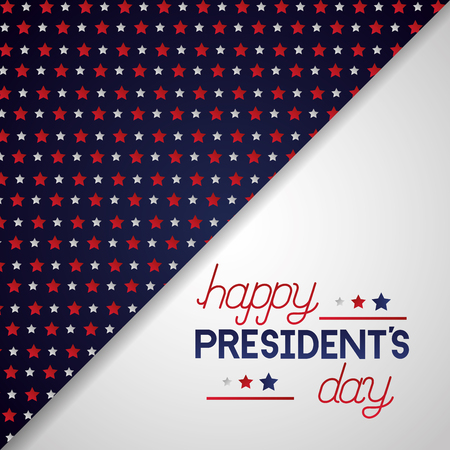 happy presidents day stars decoration vector illustration Ilustração
