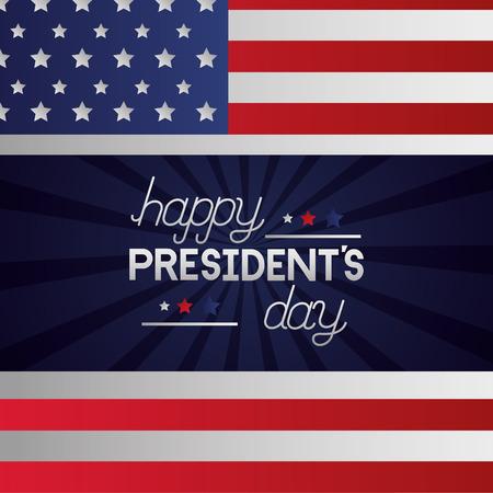 happy presidents day american flag vector illustration