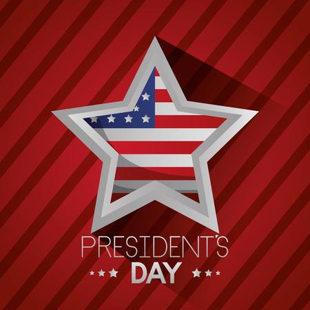 happy presidents day flag star vector illustration Reklamní fotografie - 126308844