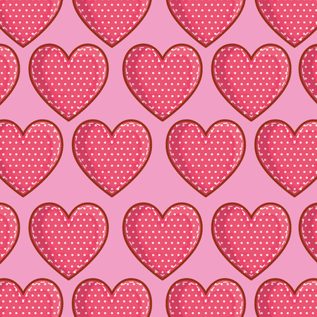 heart symbol of love and passion background vector illustration
