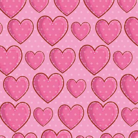 heart symbol of love background decoration vector illustration Illusztráció