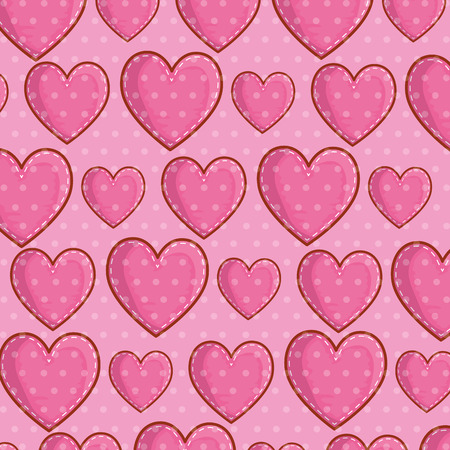 heart symbol of love background decoration vector illustration Illustration