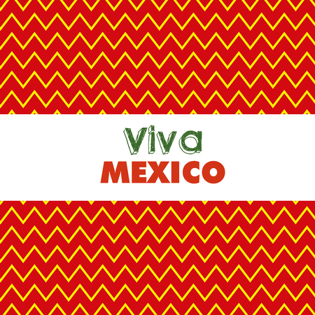 lines decoration background to mexico event vector illustration Ilustração