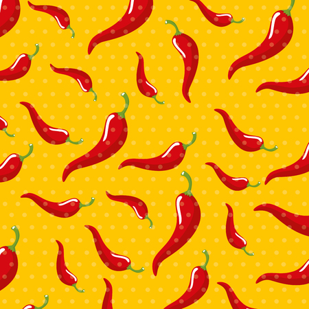 chili vegetable with points decoration background vector illustration