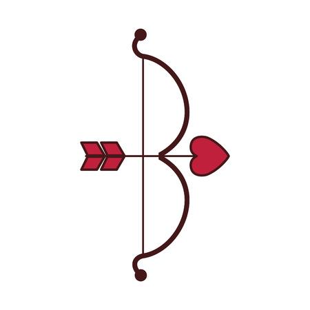 cupid bow arrow valentine day vector illustration  vector illustration Illustration