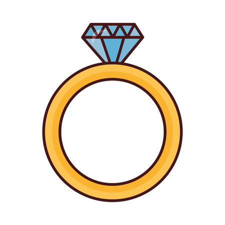 valentine day wedding ring diamond vector illustration Illustration