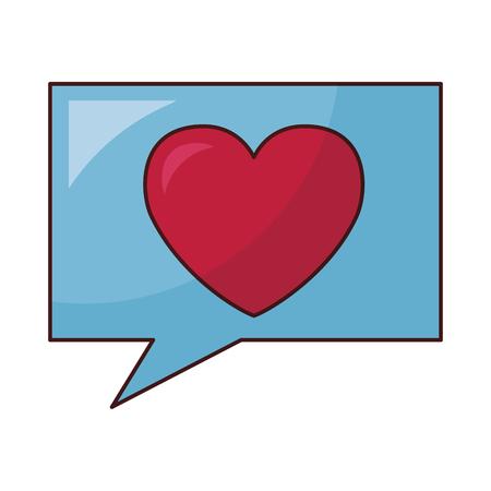 valentine day speech bubble heart love vector illustration