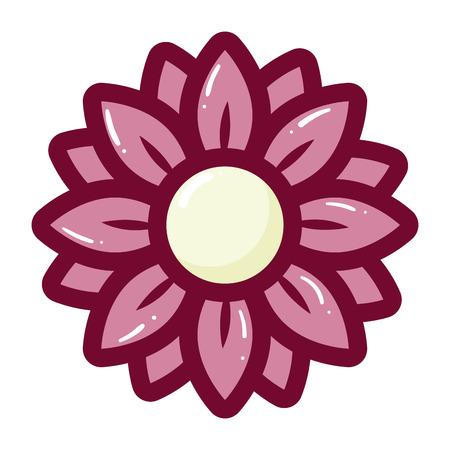 delicate flower on white background vector illustration Archivio Fotografico - 126172374