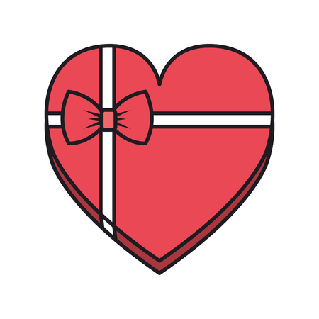 giftbox with heart shape vector illustration design