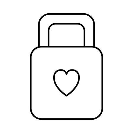padlock with heart love icon vector illustration design