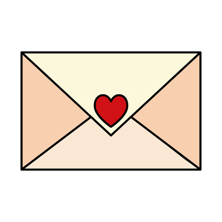 envelope with heart icon vector illustration design Vettoriali