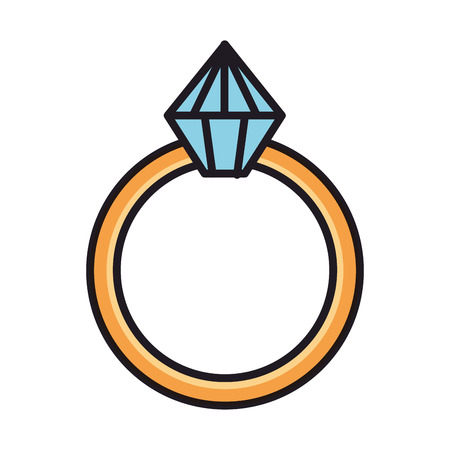 ring with diamond love vector illustration design Stock Vector - 126173347