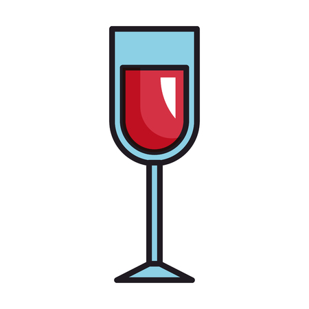wine cup isolated icon vector illustration design Stock Illustratie