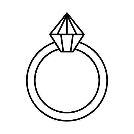 ring with diamond love vector illustration design