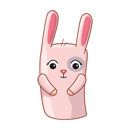 cute and little rabbit vector illustration design