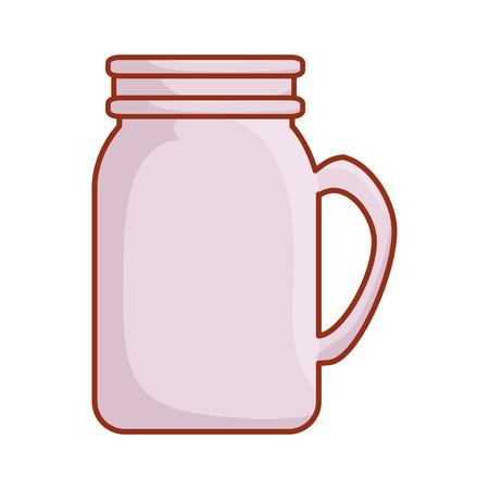 mason jar glass icon vector illustration design