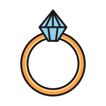 ring with diamond love vector illustration design Stock Vector - 126173397